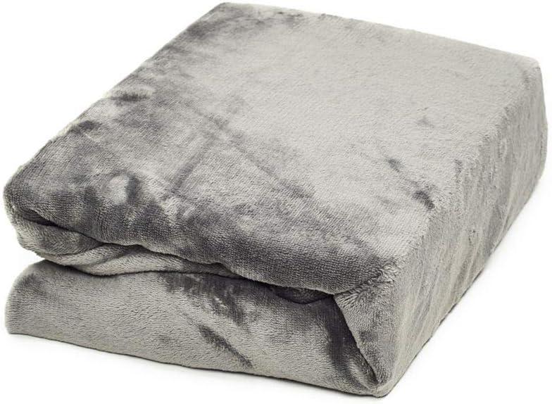 Kinderbett Couch Flauschiges Laken Tagesdecke,Taupe,140x190-150x200 cm MALIKA kuschelige Cashmere-Touch Spannbettlaken Jersey Fleece Spannbetttuch Bett
