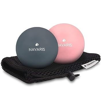 Navaris Set de 2 Bolas para masajes - Bolas de lacrosse para ...