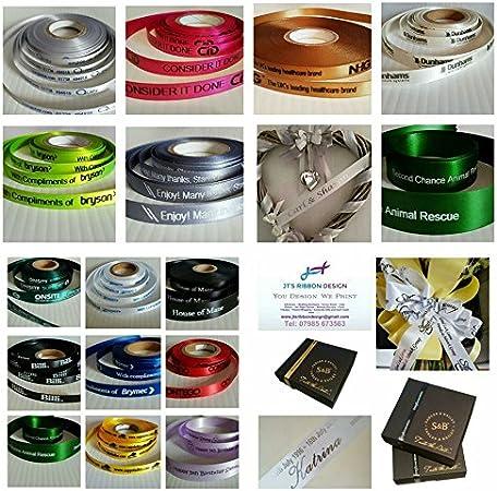 15 mm ruban satin votre logo de votre message en 34 Couleurs couleurs éclatantes