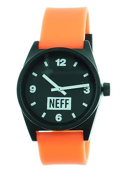 Neff - Reloj diario para hombre (seguridad/negro)