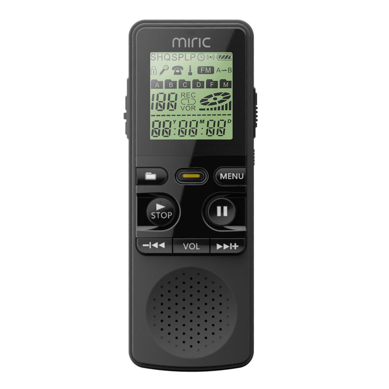 Miric Grabadora de Voz Digital GB Kbps Grabadora Recargable Portátil