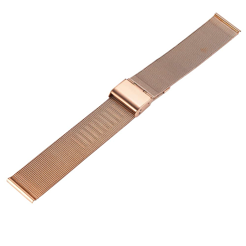 Amazon.com: Cywulin Milanese Bands for Huami Amazfit Bip Youth Watch, 20mm Stainless Steel Metal Loop Mesh Replacement Strap Bracelet Quick Release for ...