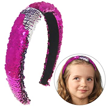 1 Pc Reversible Sequins Hairbands Colorful Glitter Sequin Headbands Novelty Headwear For Women Apparel Accessories
