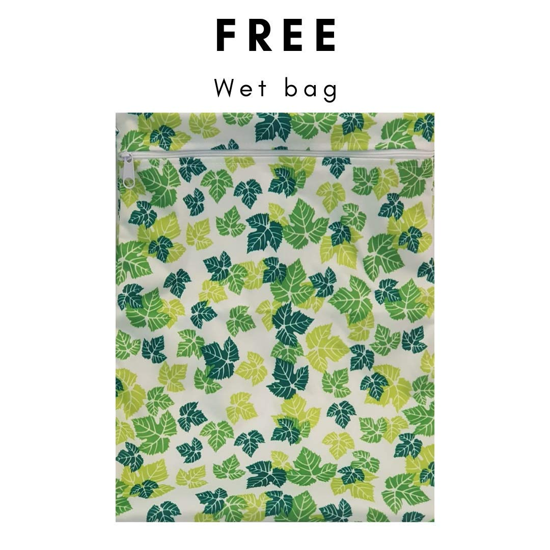 Free Gift Wetbag Cloth Diaper Bamboo Liners PLASTIC FREE Product 4pk 400count