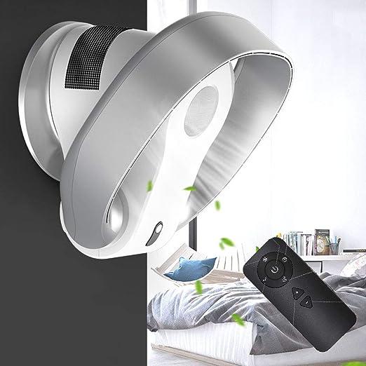 HRD Ventilador de Pared sin aspas con Control Remoto/Temporizador, Ahorro de energía/Ventilador de Escritorio silencioso, 26W: Amazon.es: Hogar
