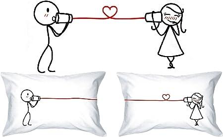 Mots Damour Love Whispers Taies Doreiller Pour Lui Et Pour Elle