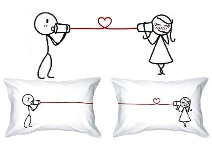 Mots D Amour Love Whispers Taies D Oreiller Pour Lui Et Pour