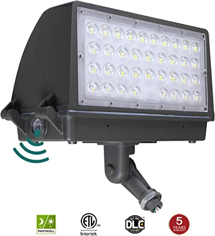 Kadision 100w Led Flood Light With Dusk To Dawn Photocell Adjustable Arm Knuckle Mount Full Cut Off Area Security Lights Replaces 350w Mh 12000lm 5000k 100 277vac Ip65 Waterproof Amazon Com