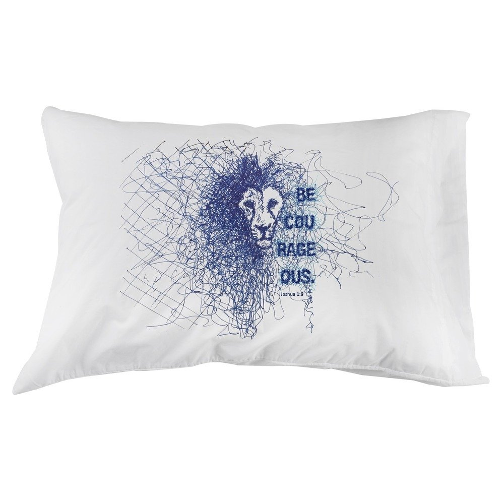 Message Brands Be Courageous Pillowcase