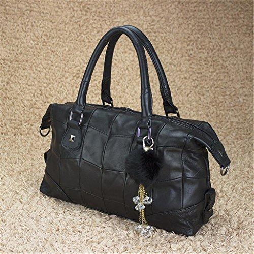 Capacity Shoulder Bag work Large travel Messenger Lady simple Handbag Bao Boston Leather Shopping qwvI7xOX