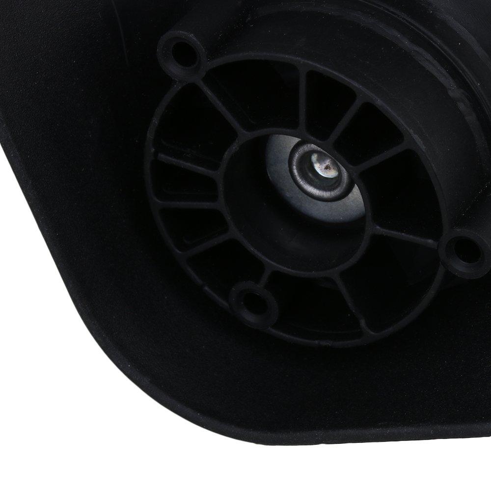 1 Pair Swivel Wheel Luggage Replacement 12cmx9.6cmx5.5cm Metal+Plastic Gray