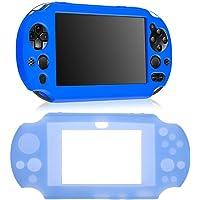 Chinatera Silicone Skin Protector Cover Case For Sony Ps Vita 2000 (Blue)