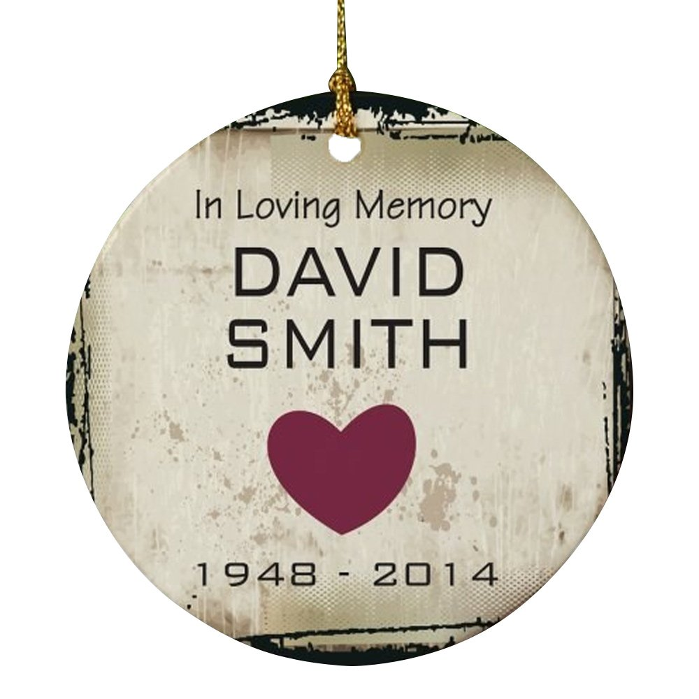 Amazon.com: Personalized In Loving Memory Christmas Ornament: Home ...
