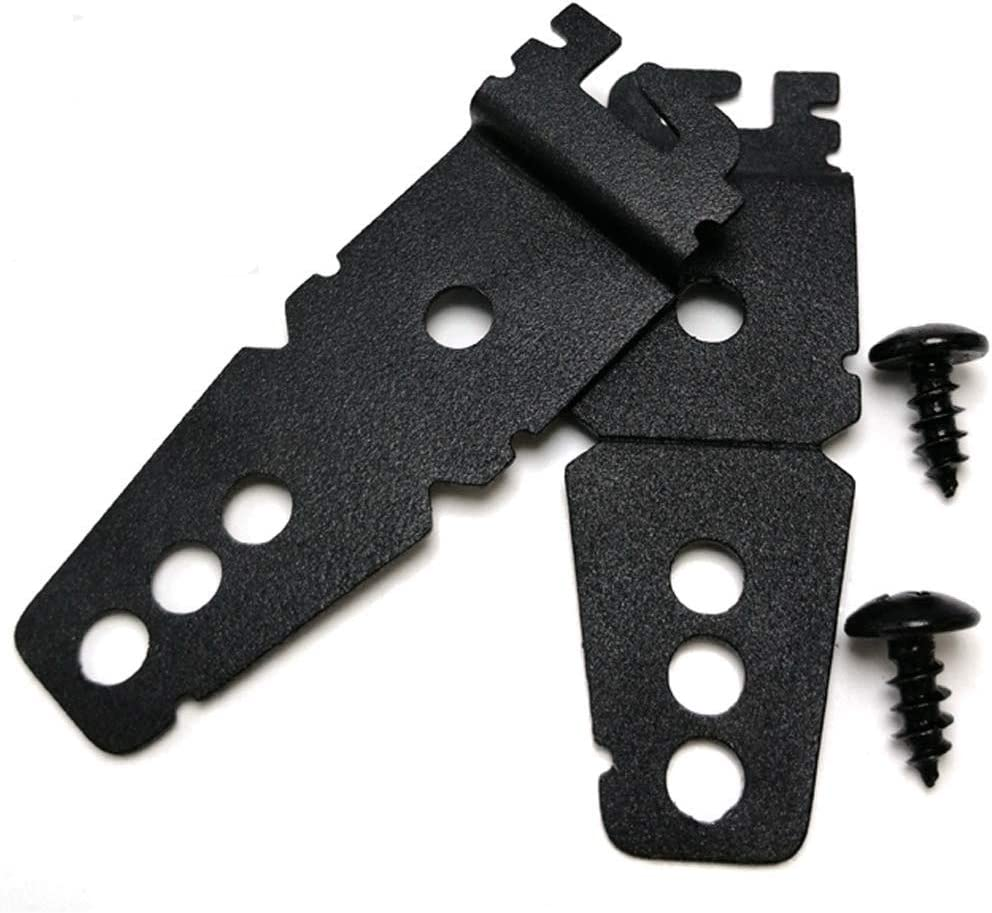 (Upgraded) 2 Pack 8269145 Dishwasher Mounting Bracket Black Replacement mit Screws Compatible mit Whirlpool & Kitchenaid Dishwashers, Replaces Wp8269145 Ap3039168 Ps393134