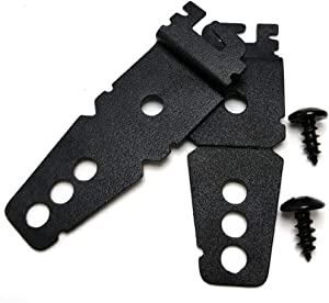 (Upgraded) 2 Pack 8269145 Dishwasher Mounting Bracket Black Replacement with Screws Compatible with Whirlpool & KitchenAid Dishwashers, Replaces WP8269145 AP3039168 PS393134