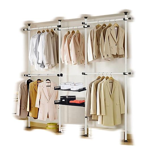 Portátil Interior Ropa Accesorio de tools-free DIY perchero ...