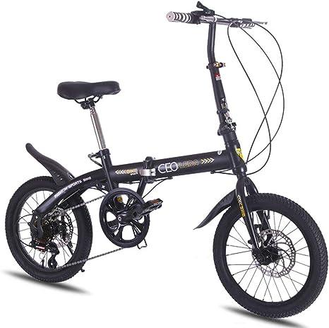 LETFF Bicicleta Plegable para Adultos De 16 Pulgadas, Frenos De ...