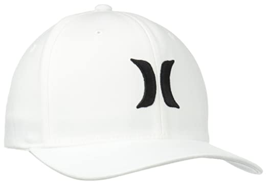 2544f6dc Amazon.com: Hurley Men's One and Only Black White Hat Flex Fit: Clothing