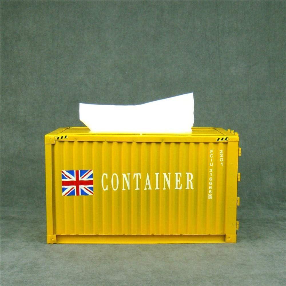YXYLQ R/étro Creative Container Design Fer Bo/îte De Mouchoirs Accueil Voiture Serviette Papier R/écipient en M/étal Papier Serviette De Stockage Cas D/écor /À La Maison-Une
