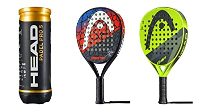 Head Padel Schläger Set Evolution & Flash 3 Padel Bälle Pro ...