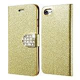 Excelsior Premium Leather Wallet Flip Cover Case For Apple iPhone 8 Plus (Gold)