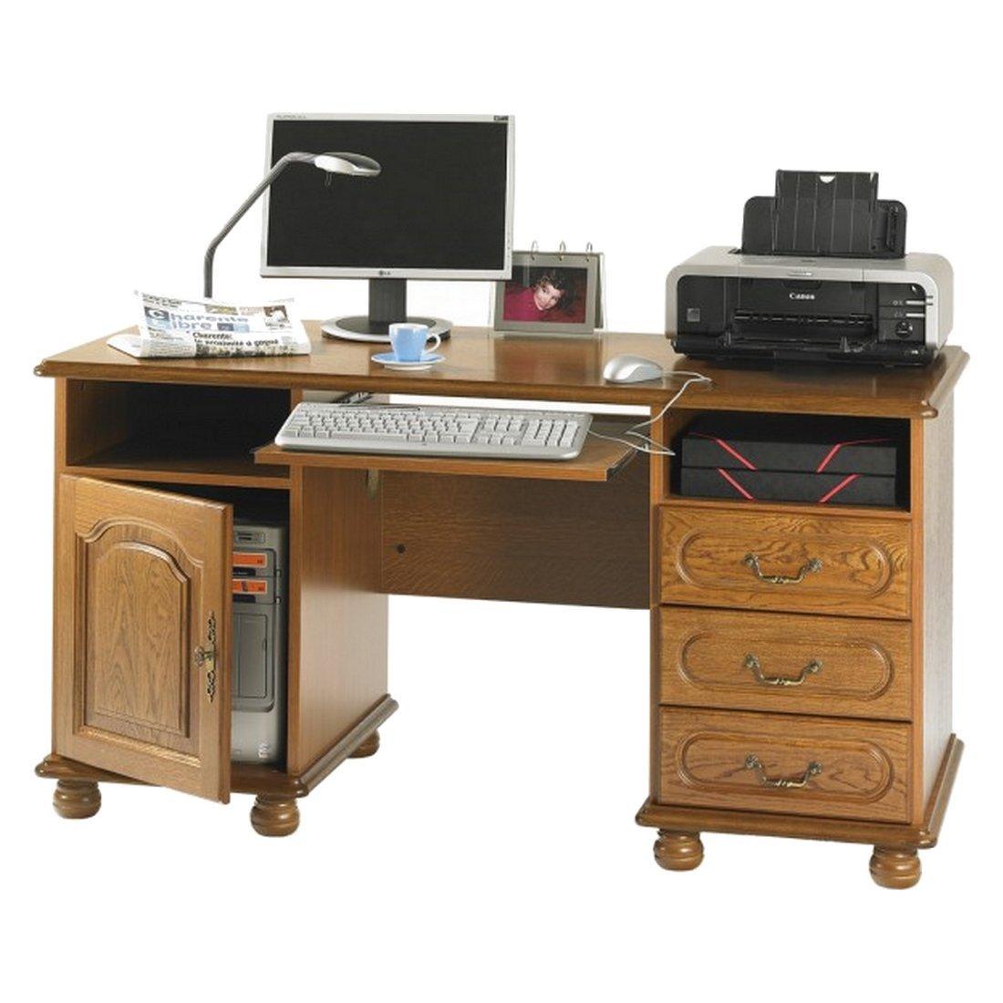 Schreibtisch eiche rustikal minister f r 1 t r 3 schubk sten metz g nstige online kaufen - Schreibtisch rustikal ...