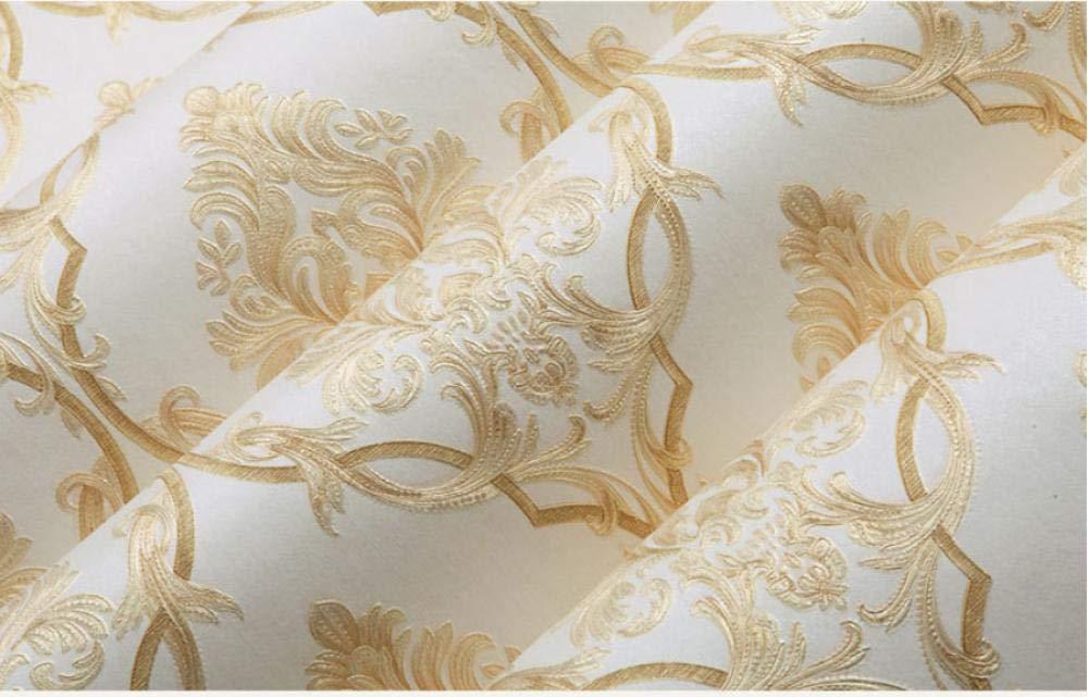 Papier Peint 3d /Épaissir En Relief Damass/é Moderne Minimaliste Non-tiss/é Fond D/écran Rouleau pour Chambre Salon Canap/é TV Fond Mur D/écoration de La Maison 10m x 0.53m