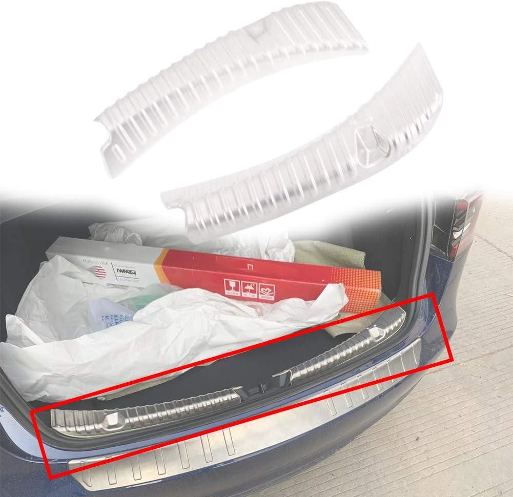 Matedepreso Modell 3 Edelstahl Ladekantenschutz Kofferraum Ladekantenschutz Anti Scratch Autozubeh/ör