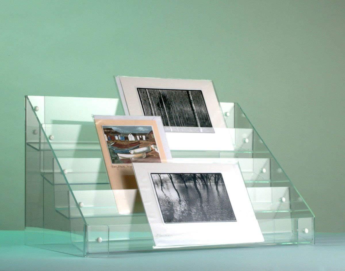 Greeting Card Display Stand - 4 tiers - 655mm (w) x 303mm (d) x 415mm (h) x 70mm Luminati