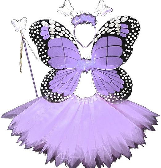 Bozaap Disfraz de Hada para niñas, con alas de ángel y Mariposas ...