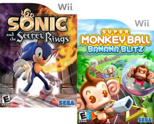 Banana Blitz Wii (Sega Fun Pack featuring Sonic and the Secret Rings and Super Monkey Ball Banana Blitz - Nintendo Wii)