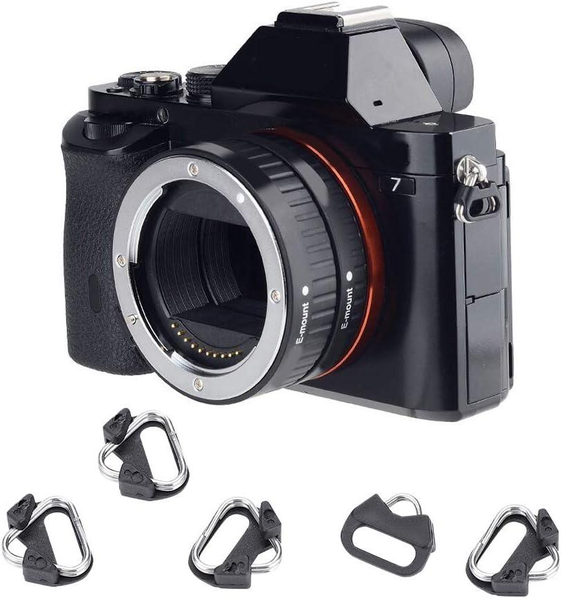 Pomya 5 Pcs Alloy Camera Triangle Split Ring Hook Camera Shoulder Strap Replacement Accessories