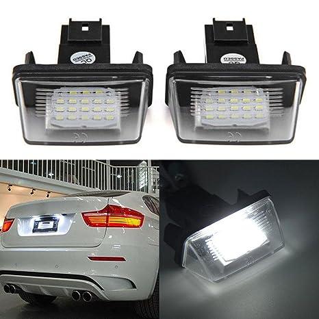 ZHUOTOP - Juego de 2 luces de matrícula para Peugeot 206/207/307/