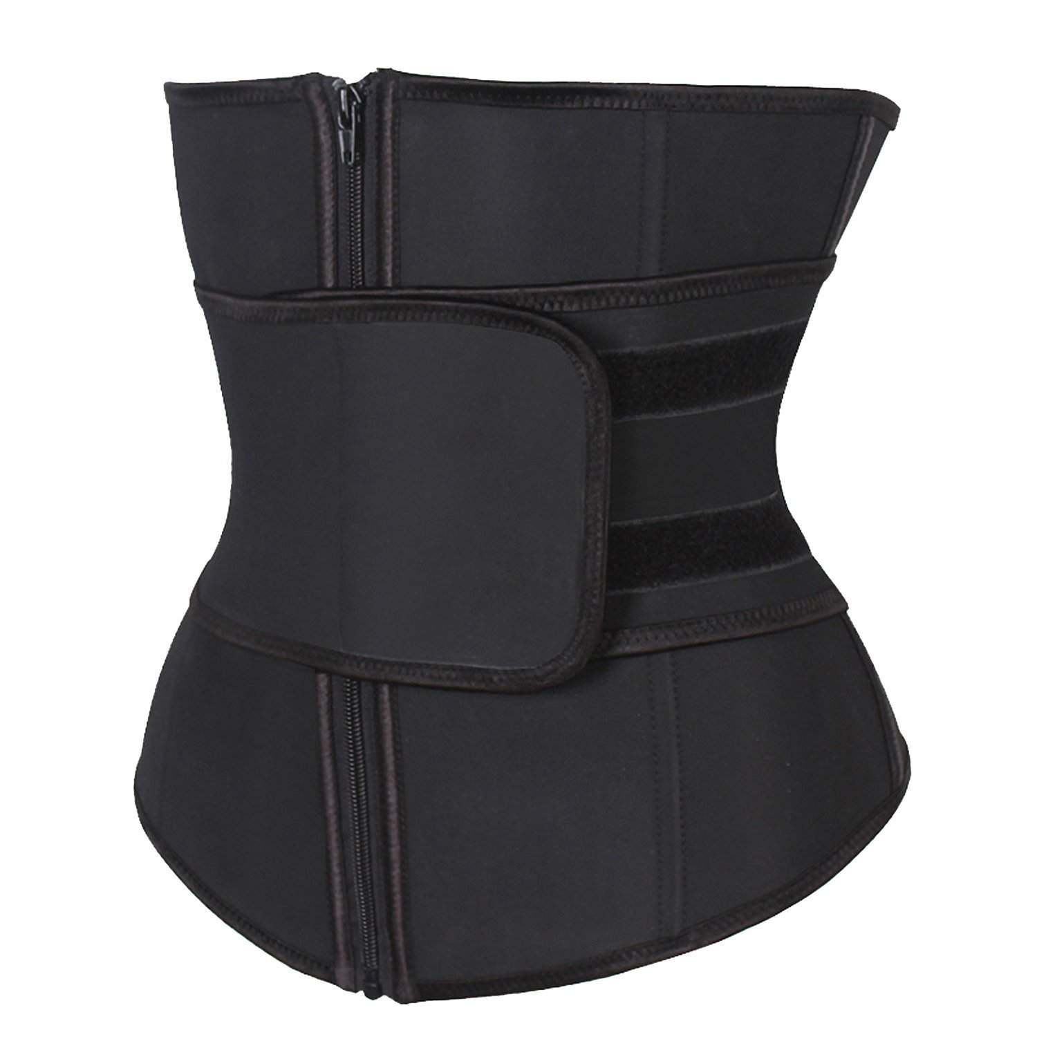 d099513bb008c KIWI RATA Abdominal Belt High Compression Zipper Neoprene Waist Trainer  Cincher Corset Body Fajas Sweat at Amazon Women s Clothing store