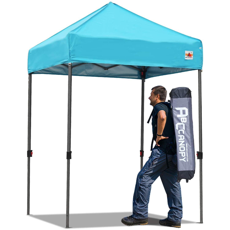 ABCCANOPY Pop up Canopy 5'x5' Portable Canopy Tent Bonus Carry Bag Tent Stakes (SkyBlue)