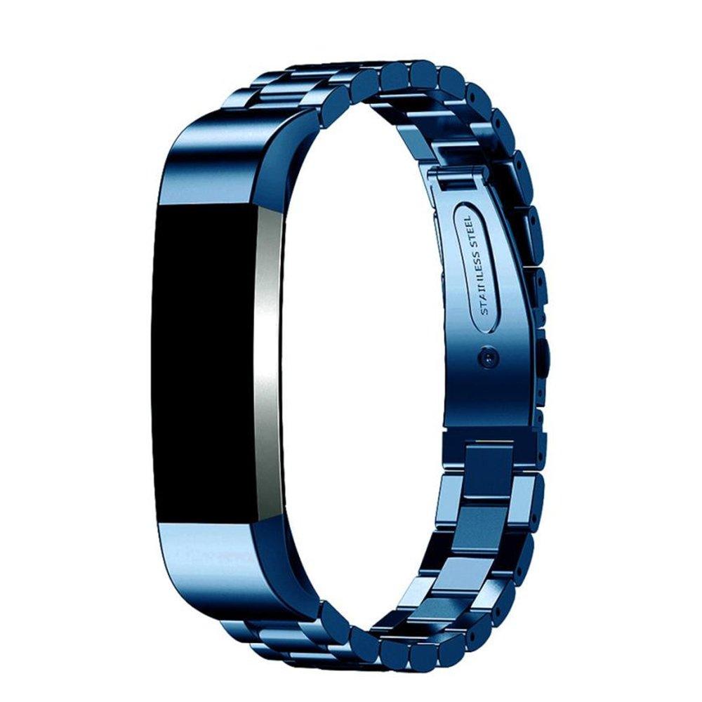 ウォッチバンドfor Fitbit ALTA HR、joberryステンレススチール調節可能クラシック手首ストラップ14 mm B077K6M4QK ブルー