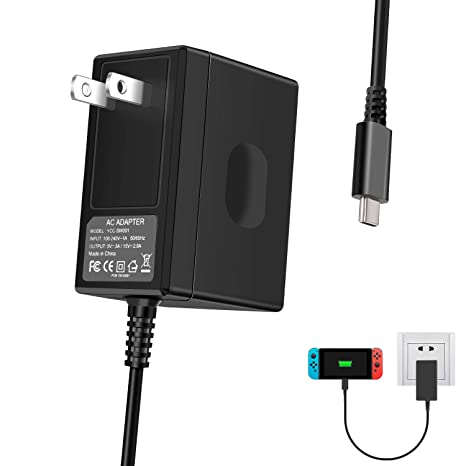 Amazon.com: Cargador de interruptor para Nintendo Switch ...