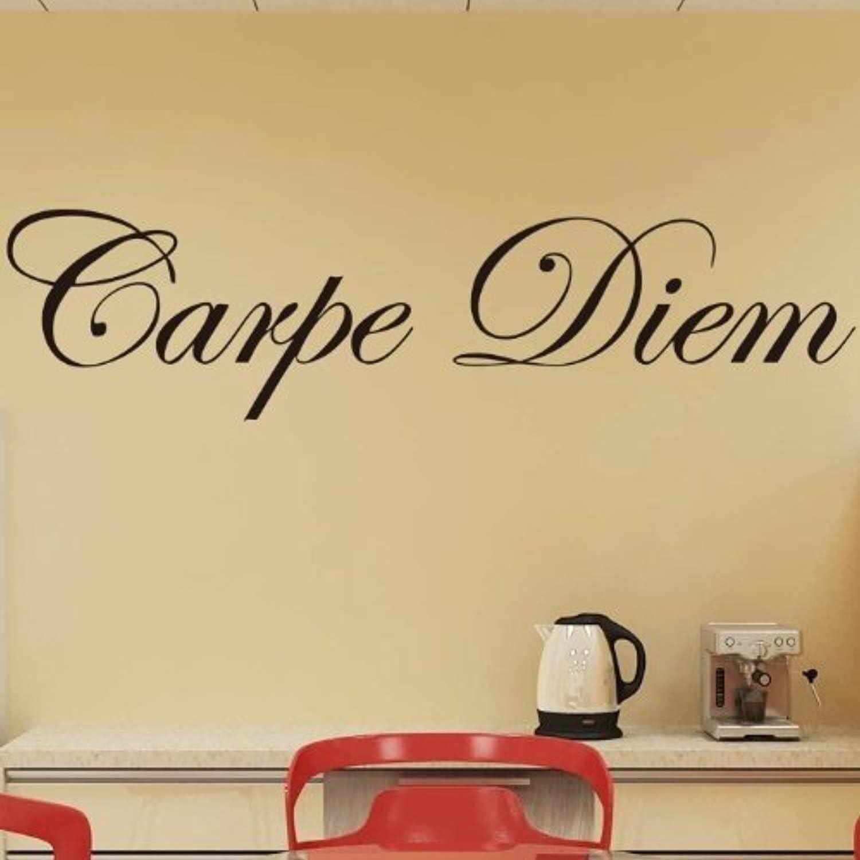 ElegantDecal Decorative Wall Stickers Removable Carpe Diem Saying Bedroom Home Decor 23.45.9