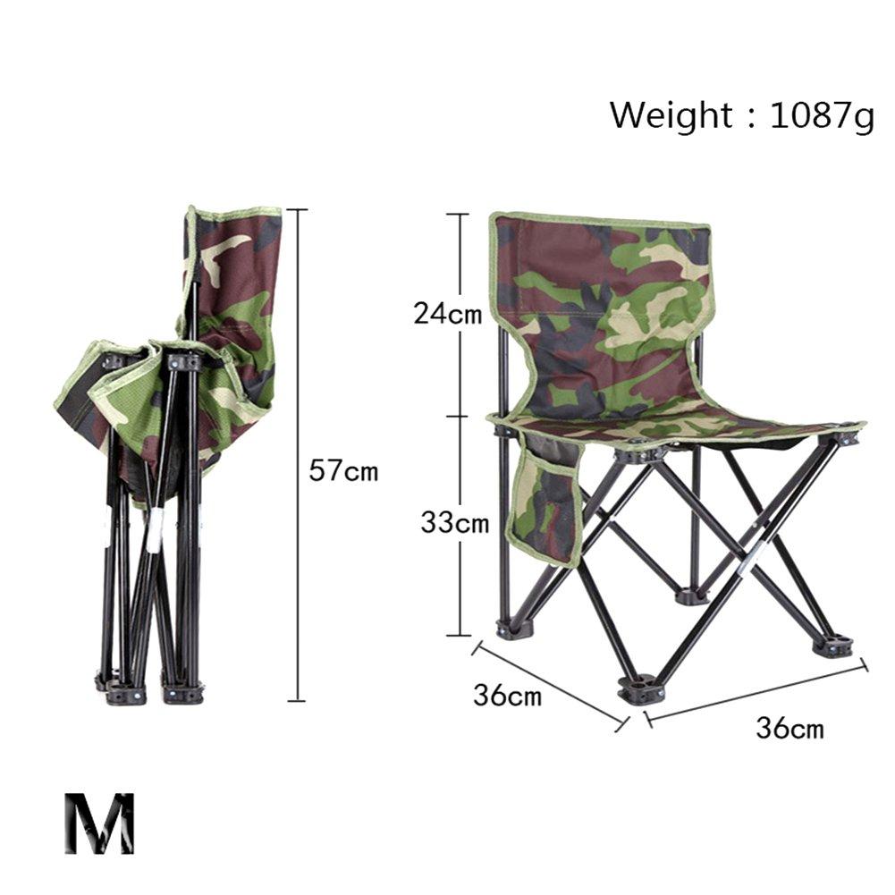 color camuflaje con soporte para bebidas y funda silla de pescador Silla plegable de Mojawo director camping