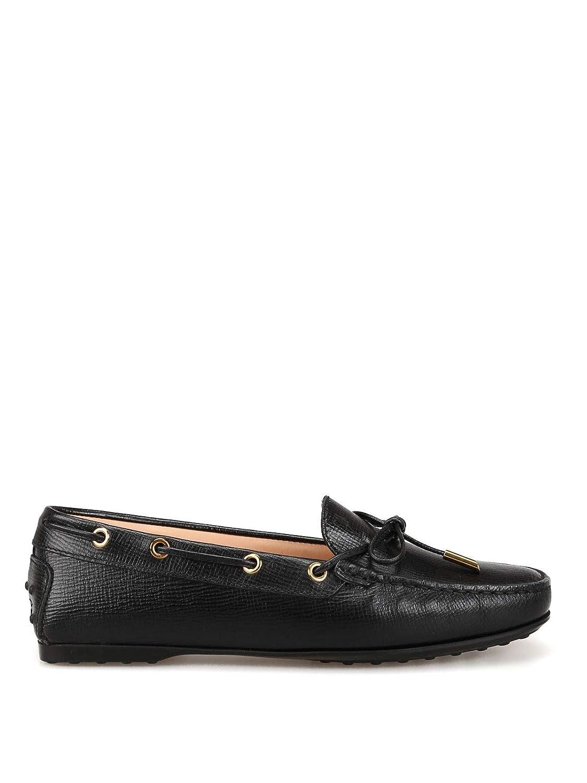 - Tod's Women's XXW0LU05030LUBB999 Black Leather Loafers