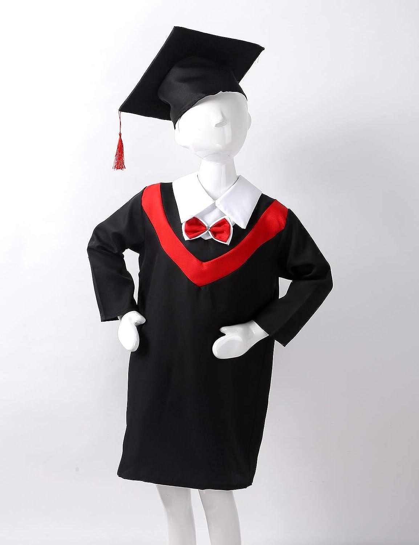 Graduation Robe Gown Children School Kindergarten Fancy Dress Primary Costume