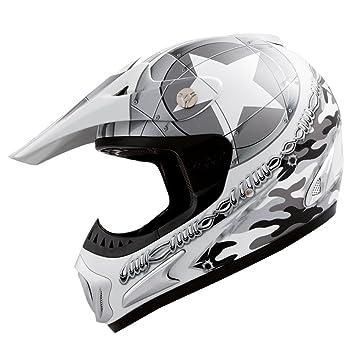 Römer Starcross Casco de Motocross, Blanco Perla/Plateado, XS