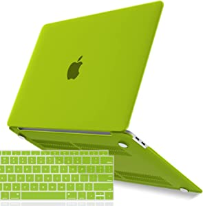 IBENZER New 2020 MacBook Air 13 inch Case M1 A2337 A2179 A1932 Plastic Hard Shell Case with Keyboard Cover for Apple Mac Air 13 Retina Display with Touch ID (2018-2020), Avocado Green, MAT13-AVGN+1