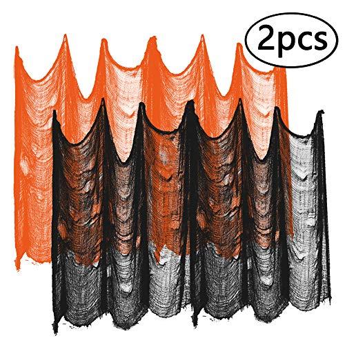 ziyue Halloween Creepy Cloth Party Decor Drape Doorways Entryways Windows Cover Gauze 10 Yards X 30
