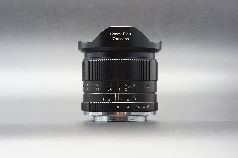 7Artisans 12 mm F2.8 APS-C Grand Angle objectif fixe manuelle pour Fuji X Mount Camera comme X-A1 X-a10 X-A2 X-a3 X-at X-M1 XM2 X-T1 X-T10 X-t2 X-t20 X-Pro1 X-pro2 X-E1 X-E2 X-E2s