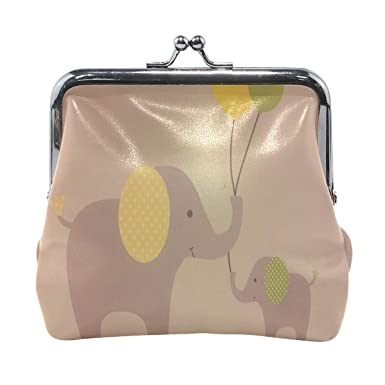 Amazon.com: Monedero bolso globo bebé elefante rojo corazón ...