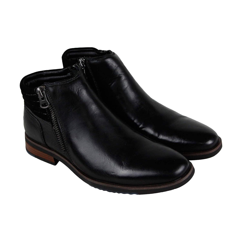 Amazoncom Steve Madden P Kingpin Mens Black Leather Casual Dress