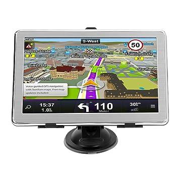Navegación GPS de Coches X8 Navegador GPS Ultra Delgado de 7 Pulgadas para automóvil Navegador GPS