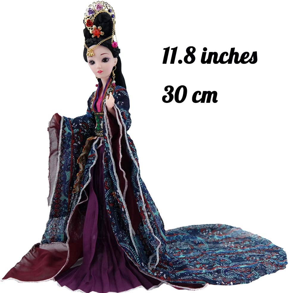 Tabletop Decorative Doll with Exquisite Hairstyle and Doll Clothes Home Decor Accent Chinese Dolls for Kids Home Decor Home Decorations for Living Room Xmas Gift