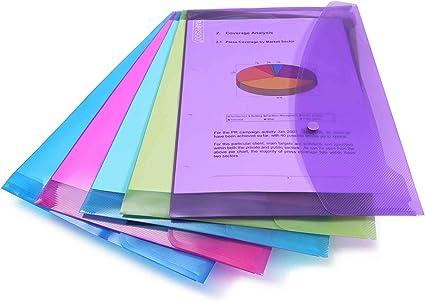 Oferta amazon: Rapesco Documentos - Carpeta portafolios A4+ horizontal, en varios colores traslúcidos, 5 unidades, polipropileno, foolscap